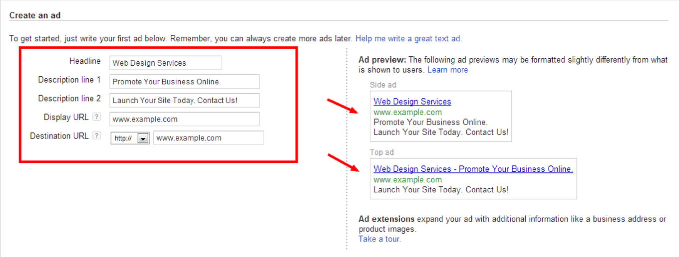 How to Create a Google AdWords Campaign: Step 3b