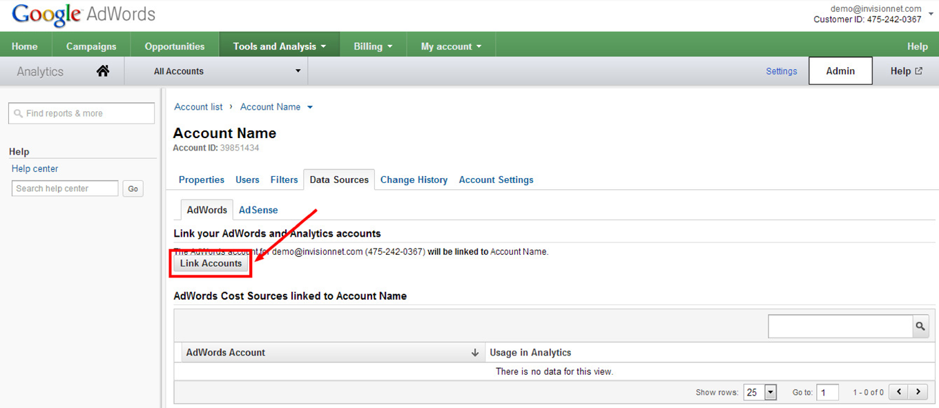 How to Link Google Analytics to AdWords: Step 5