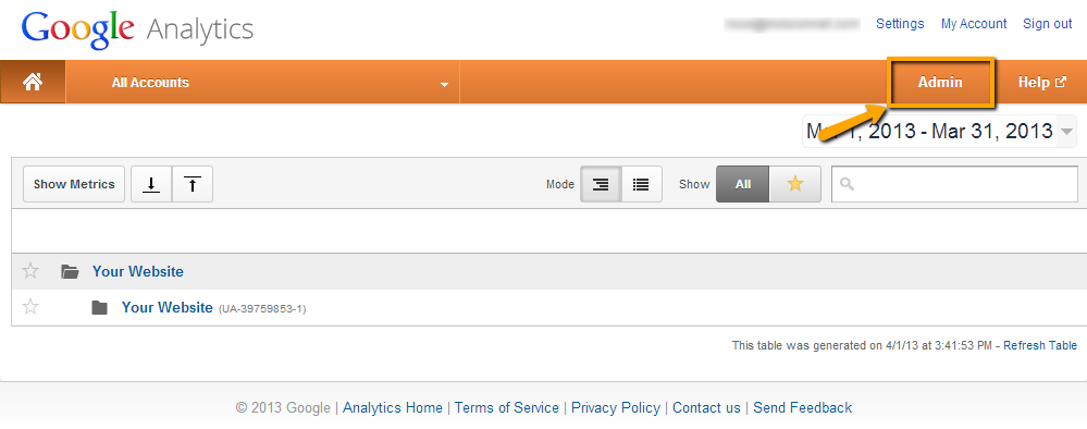 How To Give Administrator Access to Google Analytics: Step 1.