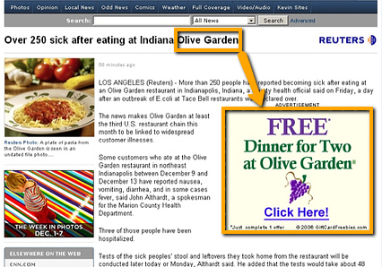 A bad combination of automatic placements, brand bidding, and an unfortunate news report