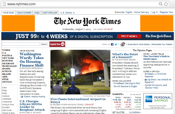 The NY Times home page has two 184x90 header banners