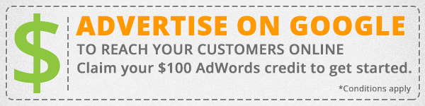 Advertise on Google and get a free $100 AdWords credit!